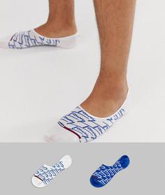 Набор синих невидимых носков с логотипом Tommy Jeans - 2 пары-Синий