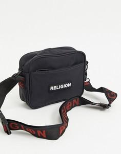 Черная сумка через плечо с логотипом Religion-Черный