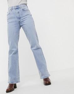 Расклешенные джинсы с завышенной талией Levis-Синий