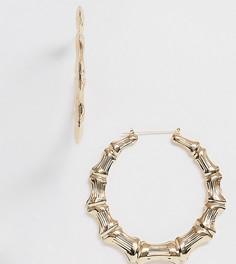 Позолоченные массивные серьги-кольца Image Gang-Золотой