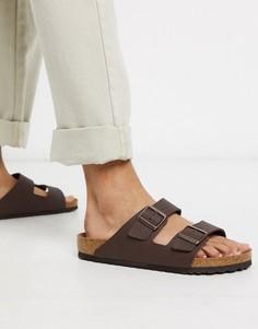 Коричневые сандалии из искусственной кожи Birkenstock birko-flo-Коричневый