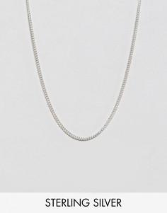 Серебряное ожерелье ASOS DESIGN-Серебряный