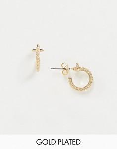 Позолоченные маленькие серьги-кольца Saint Lola-Золотой