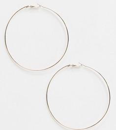 Эксклюзивные розово-золотистые большие серьги-кольца Liars & Lovers-Золотой