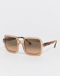 Солнцезащитные очки в розовой квадратной оправе Ray-ban-Розовый