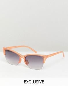 Солнцезащитные очки в стиле ретро Reclaimed Vintage inspired-Коричневый