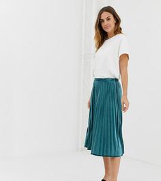 Плиссированная юбка миди Naf Naf-Зеленый