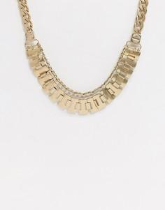 Золотистое двухслойное ожерелье Vibe and Carter эксклюзивно для ASOS-Золотой