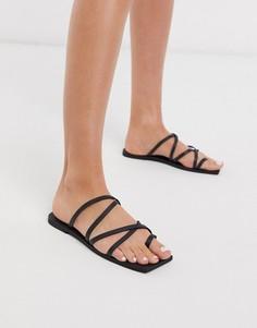 Черные сандалии с петлей для большого пальца Missguided-Черный