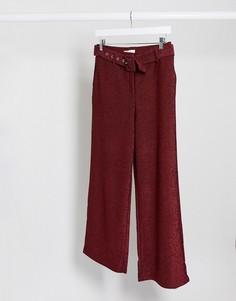 Красные брюки с завышенной талией и поясом Vila-Черный