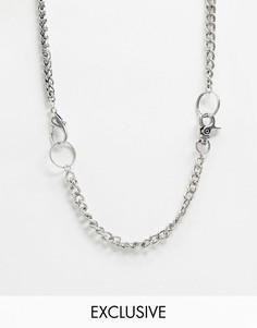 Ожерелье Reclaimed Vintage inspired эксклюзивно для ASOS-Серебряный