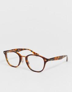 Круглые очки в черепаховой оправе Ray-Ban-Коричневый
