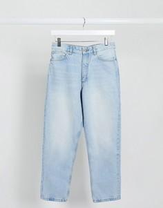 Голубые джинсы в винтажном стиле с завышенной талией Monki Taiki-Синий