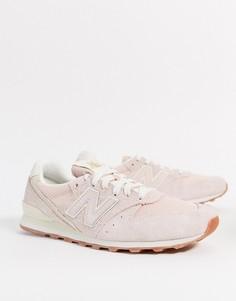 Розовые кроссовки New Balance 996-Розовый
