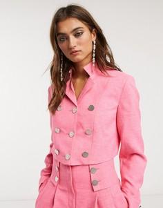 Ярко-розовый короткий пиджак от комплекта Topshop IDOL