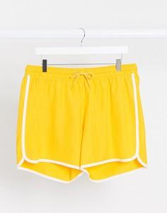 Желтые шорты для плавания Weekday-Желтый
