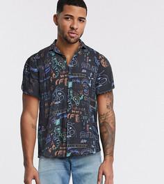 Рубашка с принтом Reclaimed Vintage inspired-Черный