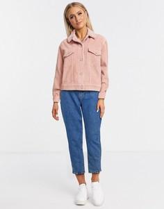 Розовая вельветовая курткаMissguided-Розовый