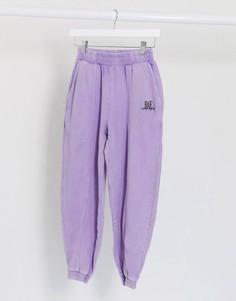 Свободные джоггеры лавандового цветаBershka-Фиолетовый