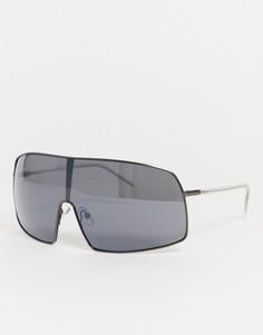 Солнцезащитные очки-маскаWeekday-Черный