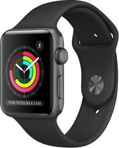 Умные часы Apple Watch Series 3, 42 мм, корпус из алюминия, спортивный ремешок (серый космос)