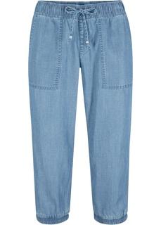 Капри джинсовые из экологичной ткани Bonprix