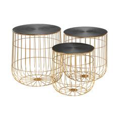 Набор кофейных столиков Bizzotto furniture Mariam 38х38х40, 43х43х46, 46х46х50