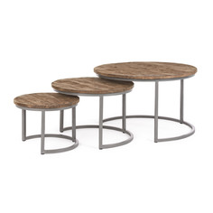 Набор кофейных столиков Bizzotto furniture Narvik 43х43х33, 58х58х40, 78х78х47 см