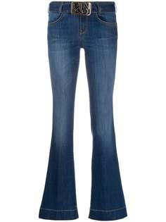 Pinko расклешенные джинсы с поясом