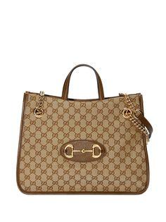 Gucci сумка-тоут 1955 среднего размера с пряжкой Horsebit