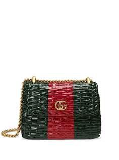 Gucci плетеная мини-сумка на плечо