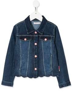 Billieblush джинсовая куртка с вышивкой пайетками