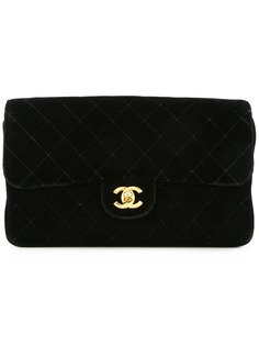 Chanel Pre-Owned стеганый рюкзак с логотипом CC
