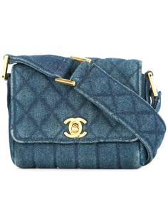 Chanel Pre-Owned джинсовая сумка на плечо с логотипом