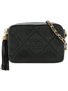 Chanel Pre-Owned стеганая сумка на плечо с кисточкой