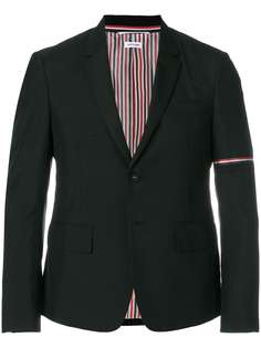Thom Browne однобортный пиджак с высокими проймами и шелковыми лацканами