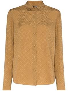 Gucci жаккардовая рубашка с монограммой