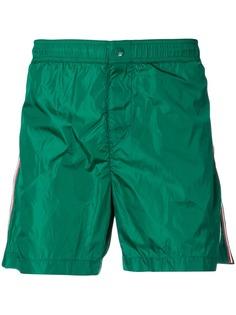 Moncler плавки-шорты с нашивкой-логотипом