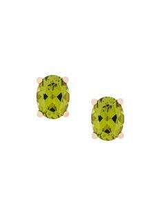 Delfina Delettrez серьги-гвоздики Dots Solitaire из золота с перидотами