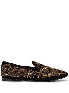 Dolce & Gabbana слиперы с вышивкой бисером