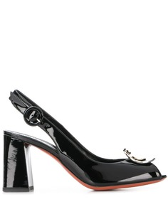 Baldinini туфли-лодочки с металлическим логотипом