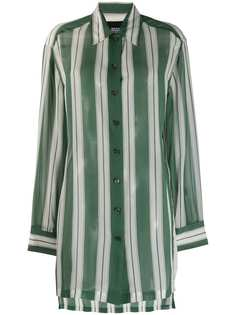 Marc Jacobs полосатая рубашка оверсайз