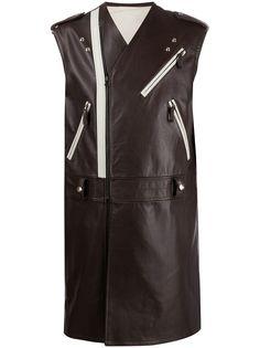 Raf Simons длинная куртка без рукавов
