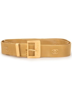 Chanel Pre-Owned цепочный пояс с логотипом СС