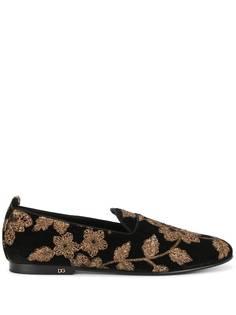 Dolce & Gabbana слиперы с цветочным узором