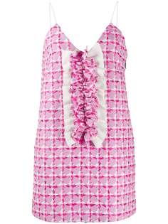 MSGM твидовое платье с оборкой