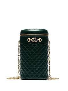 Gucci стеганая сумка с ремнем-цепочкой