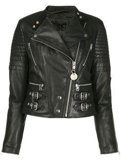 Diesel стеганая байкерская куртка с пряжкой