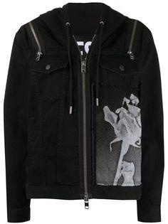 Diesel джинсовая куртка DE-Vyse-SX с капюшоном