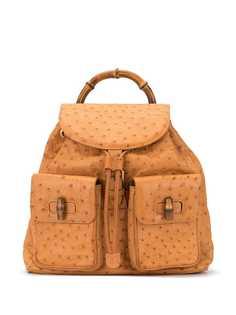 Gucci Pre-Owned фактурный рюкзак на шнурке
